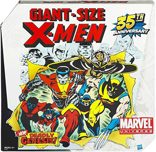 35th Anniversary 6 Pack Giant Size Marvel Universe Exclusive Action Figure Set X-Men Wolverine Nightcrawler Storm Cyclops Colossus Thunderbird Exclusive