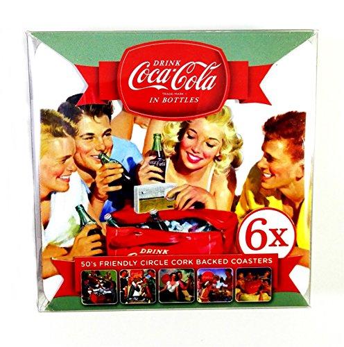 Coca Cola 6sottobicchieri con retro in sughero pulire solo
