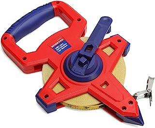 WORKPRO W136019A Open Reel Fiberglass Tape Measure, 100'