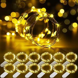 12 Packs Cadena de Luces, Govee 1m/3.3ft 20 LEDs Guirnaldas