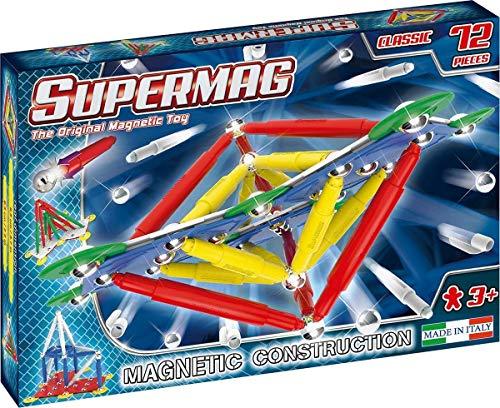 Supermag Toys-Supermag Primary 72 GIOCO DI COSTRUZIONI MAGNETICO, Multicolore, 401