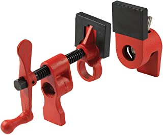 "Bessey PC12-2 1/2"" Pipe Clamp with 2 1/8"" Throat Depth, Red"