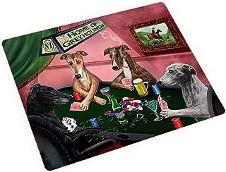 Home of Greyhound 4 Dogs Playing Poker Art Portrait Print Woven Throw Sherpa Plush Fleece Blanket (50x60 Fleece)