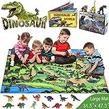GINMIC Dinosaur Toys, 21 PCS Realistic Dinosaur Figures with Large 31.5 x 47.3
