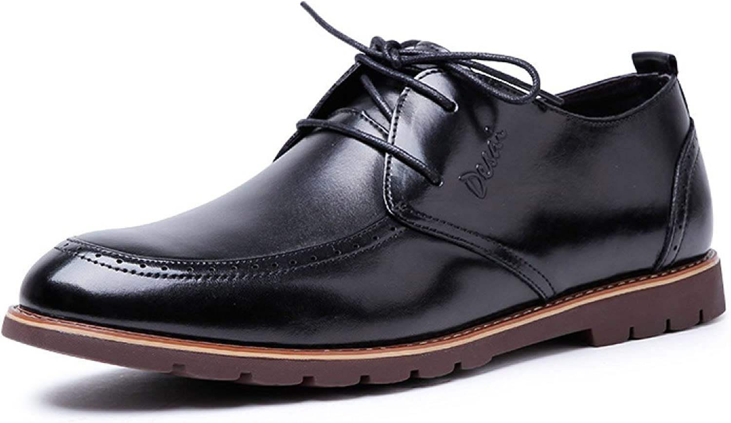 Mens Lace Up Leather Lined shoes Formal Wedding Occasion Casual Oxford shoes