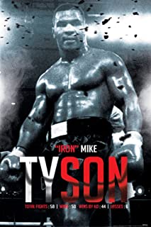 Pyramid America Iron Mike Tyson Boxing Record Sports Cool Wall Decor Art Print Poster 24x36
