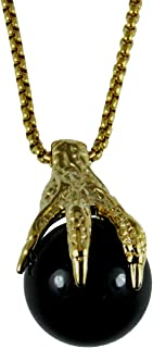 4031851 AEAONMS Masonic Black Stone Necklace Freemason Mecca Prince Hall Mason Shriner Claw