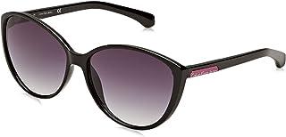 8af2def57efc Calvin Klein Jeans Women's Round Black Plastic Sunglasses - CKJ784S 001  58-14-135mm