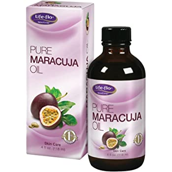 Life-Flo Pure Maracuja Oil (Passion Fruit Seed Oil)   Natural Moisturizer w/Vitamins, Minerals & EFAs for Hair, Face, Skin, Nails & Body   4 fl oz.
