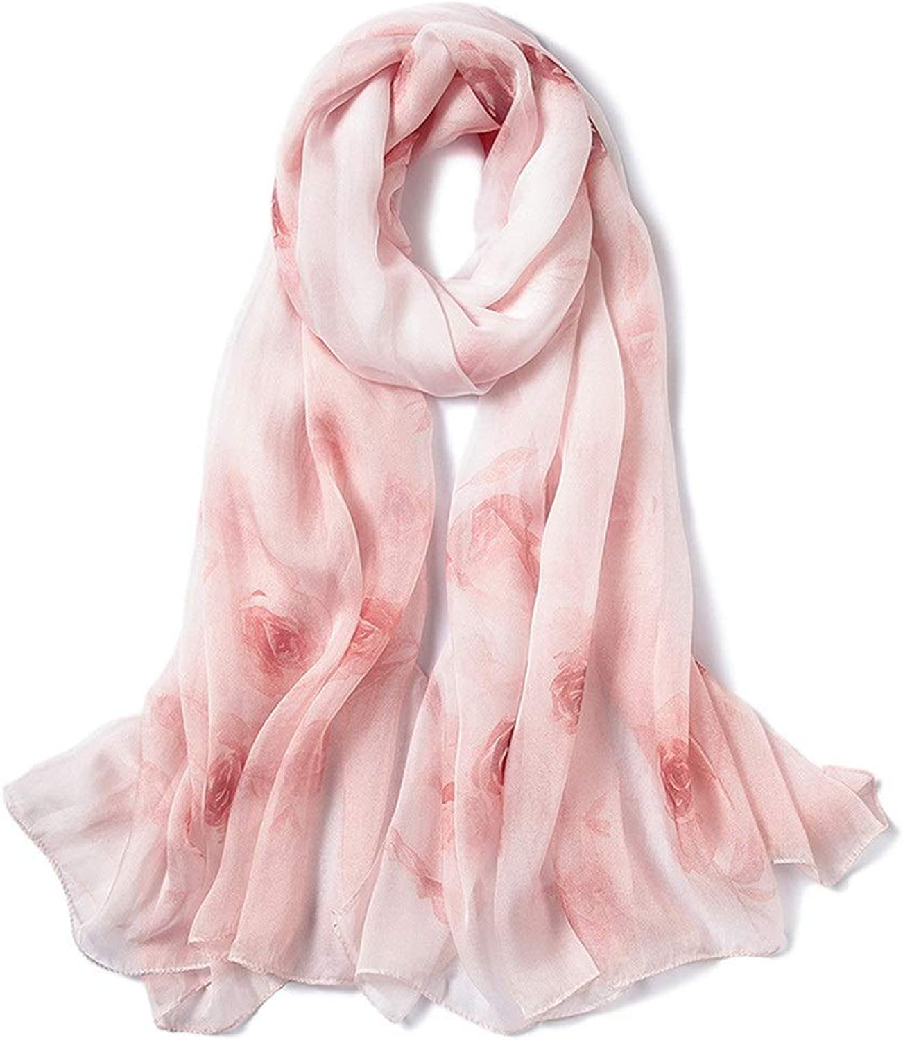 Silk Scarf for Women Lightweight Gradient colors Sunscreen Shawls for Lady Silk (color   4, Size   175cm110cm)