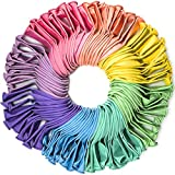 WinkyBoom Pastel Balloons Assorted Color 12 Inch 100 Pack Unicorn Birthday Rainbow Party Decoration Latex Balloons