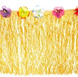 LUAU PARTY DECOR: This luau table fringe is going to enhance the look of your buffet table or snack bar at your party; make your guests feel as if they're on an island getaway with this party supply TROPICAL PARTY: This luau fringe is suitable for bo...