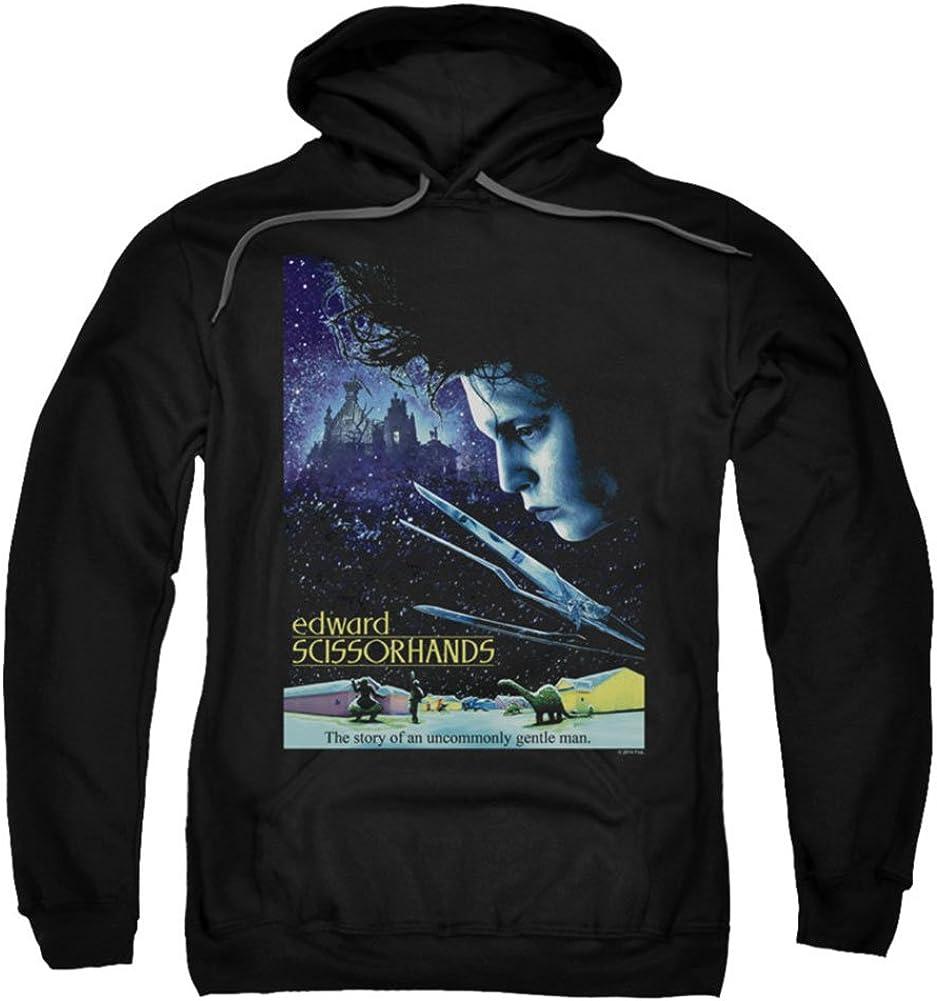 Edward Scissorhands Men's Poster Clearance SALE Limited time Max 60% OFF Sweatshirt Black Hooded
