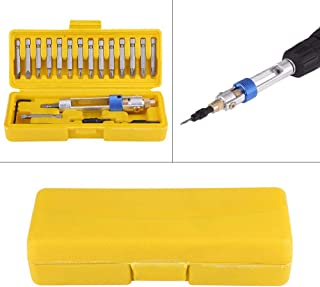 20Pcs Half Time Drill Driver Multi Smart Screwdriver Sets Updated Version 16 Different Kinds Head with Countersink Bits (Yellow)