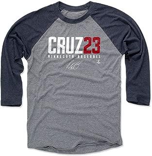 500 LEVEL Nelson Cruz Shirt - Minnesota Baseball Raglan Tee - Nelson Cruz Elite