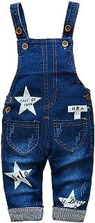 Berrywho Berrywho Baby-Jeans Overalls Latzhose Denim Overall Mädchen Jungen Strampler Stern druckte Kleidung 80cm