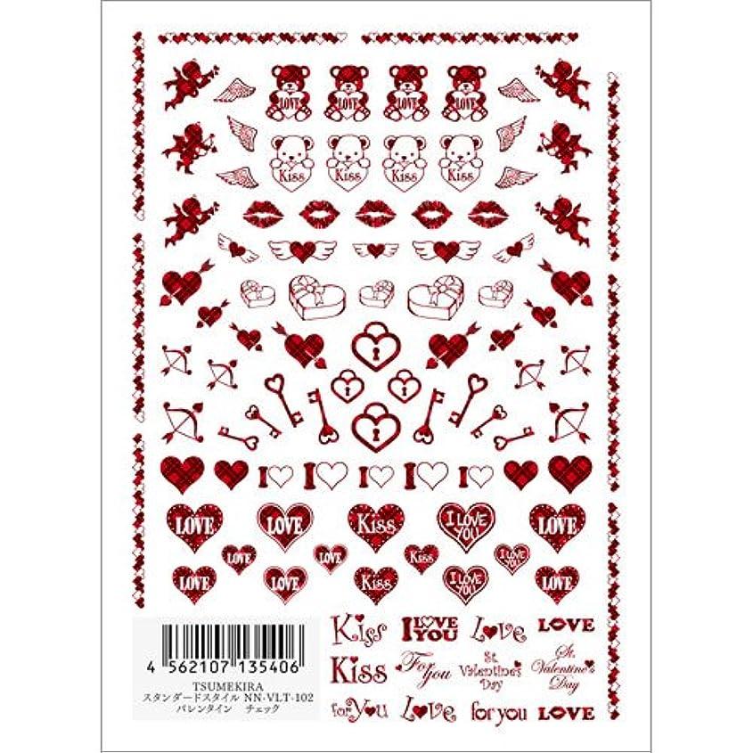 キャッチワーカー神経ツメキラ ネイル用シール スタンダードスタイル バレンタイン チェック