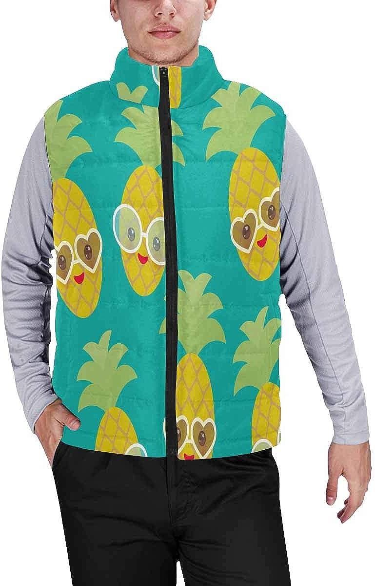 InterestPrint Men's Lightweight Vest Softshell for Camp Photos Collage