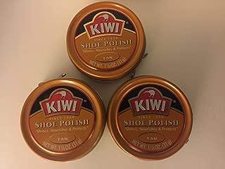 Kiwi 10112 1-1/8 Oz Tan Shoe Polish