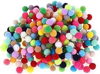 ARTIBETTER 100Pcs DIY Pom Poms Pom Pom Bola Bandeira Handmade Puffy Wiggle Olhos Arregalados Pom Pom Pom Pom Pom Pom Guirl...