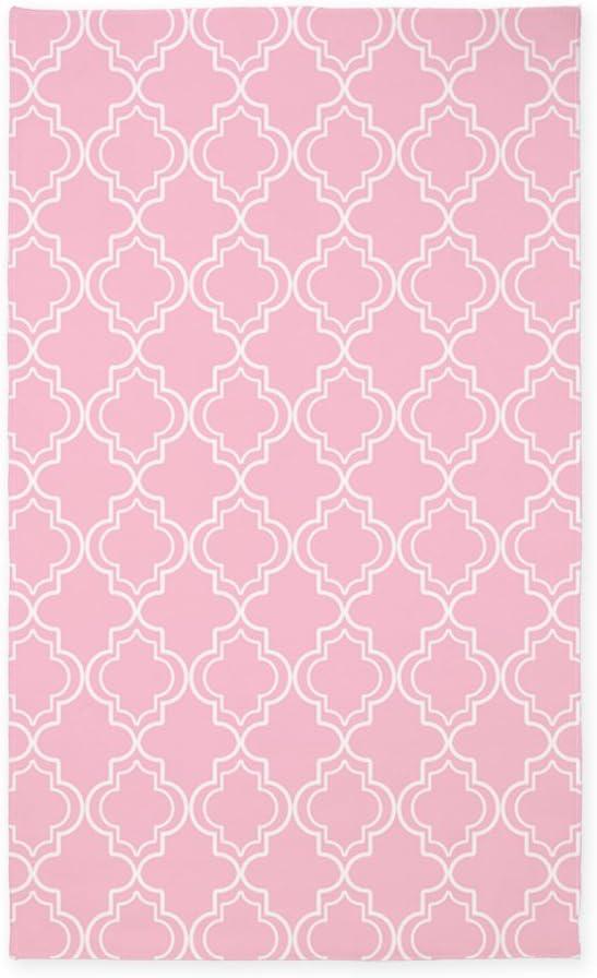 CafePress Pink Moroccan Quatrefoil Decorative T Reservation Fabric Area Branded goods Rug