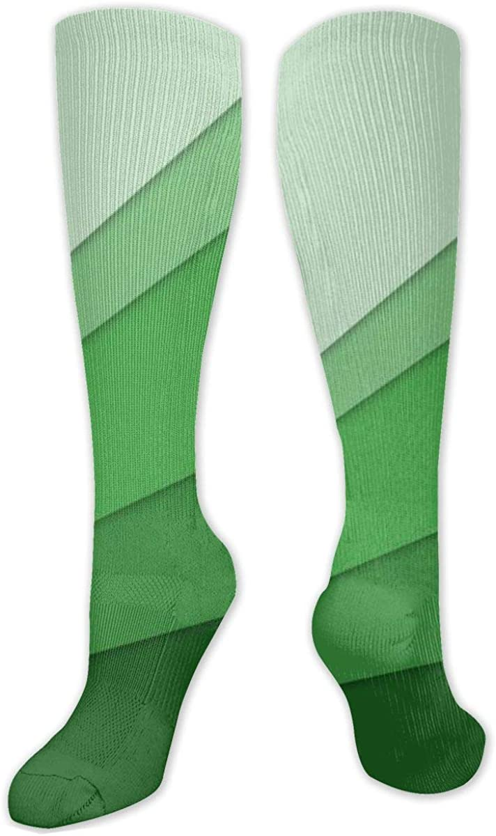 Green Future Knee High Socks Leg Warmer Dresses Long Boot Stockings For Womens Cosplay Daily Wear