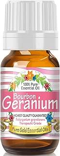 Pure Gold Bourbon Geranium Essential Oil, 100% Natural & Undiluted, 10ml