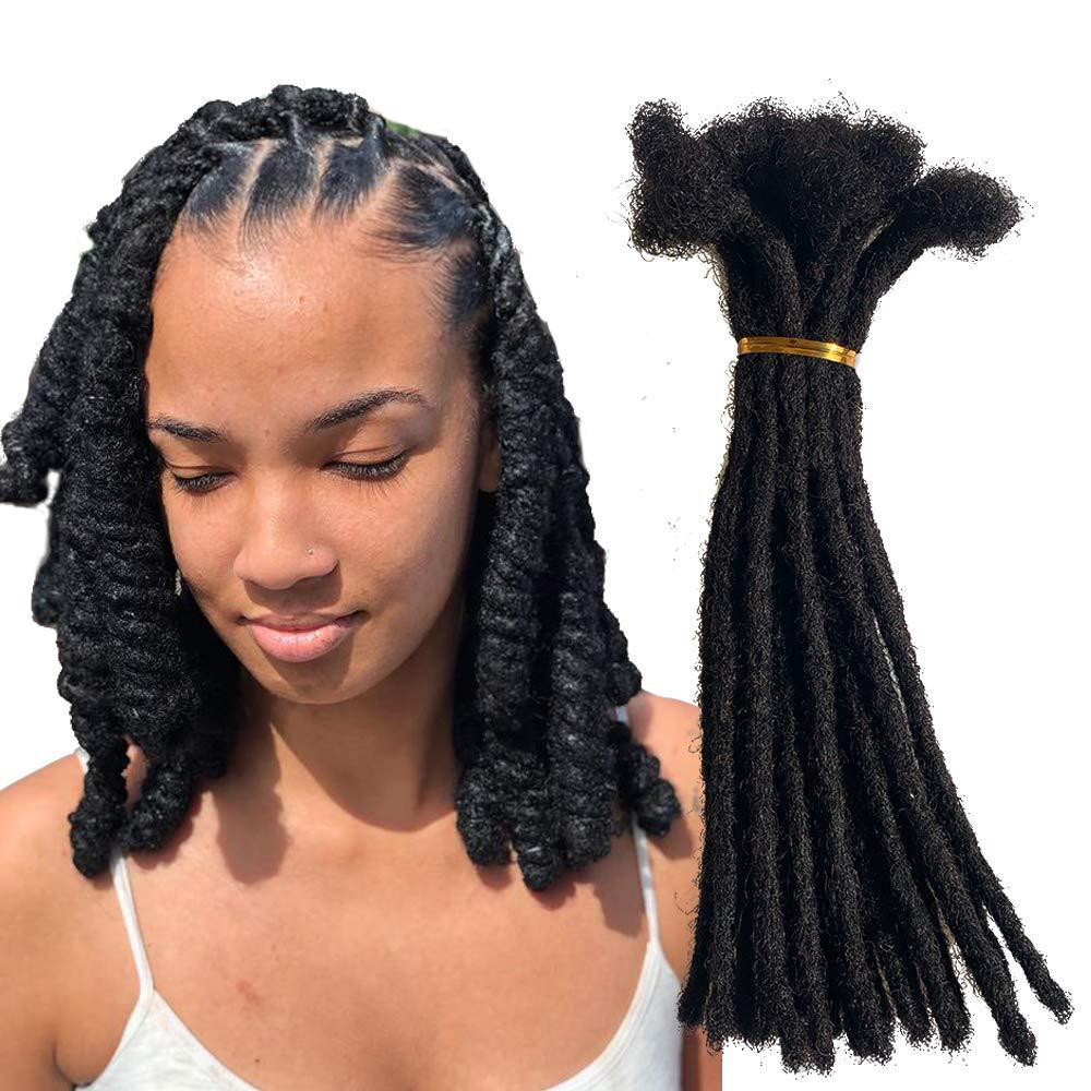 Distins Topics on TV 100% Human Popular Hair Dreadlocks Small 0.4c Handmade Size Locs