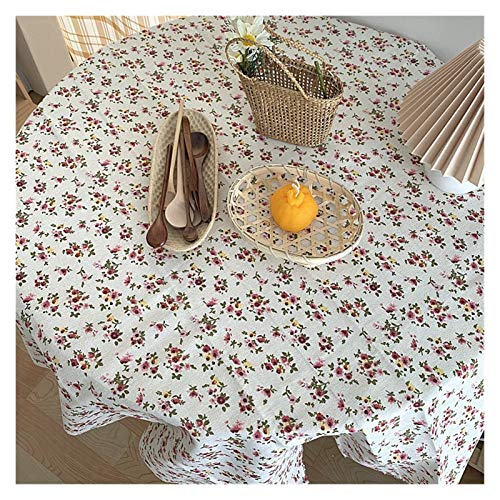 Table Cloth With Tablecloth Retro Background Cloth Wild Photo Prop Cloth Picnic Mat Kitchen Tools Checkered (Color : Little Rose, Size : S)