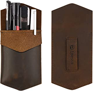 Epessa Leather Pocket Protector Pen Holder Pen Pouch/Full Grain Leather