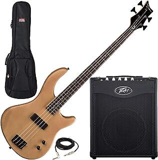 $439 » Dean Edge 09 Satin Natural Bass Guitar, Peavey Max 112 Combo Amp, and Gig Bag