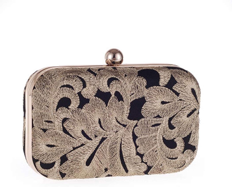 Mode Damenmode Abend Handtasche Vintage Hochzeit Hard Case Handtasche Braut Clutch Geldbörse B07MMHR2YZ  Vollständige Palette von Spezifikationen