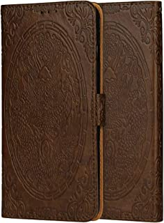 Moto E5 Play Case, 3D Embossed Realistic Chinese Dragon Totem Pattern Slim Shockproof Flip PU Leather Wallet Case Cover for Motorola Moto E5 Play (Color : Brown)