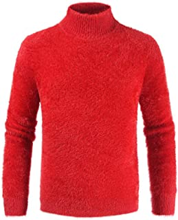 Men'S Pullover High Neck Fleece Pullover Keep Warm Solid Color Fashion Casual Comfortable and Soft Boutique Basic Pullover...