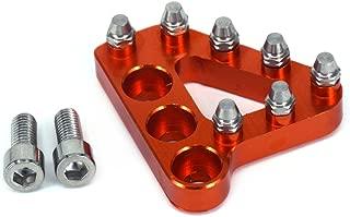 JFG Racing Universal Billet Aluminium Levier de p/édale de Frein arri/ère /étape Remplacement de Pointe pour Les v/élos Dirt Noir