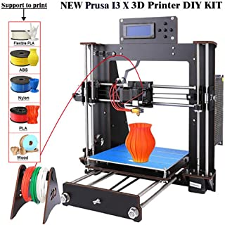 3D Printer I3 High Precision Large Size Desktop 3D Printer Kit Reprap Prusa I3 DIY Self-Assembly LCD Screen PLA/ABS Filament 1.75MM DIY 3D Printer 200x200x180 (i3 3D Printer)