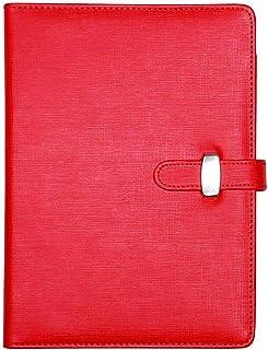 Carpeta portafolio ejecutiva para conferencias con anillas. Organizador recargable, tamaño A5, color rosso A5