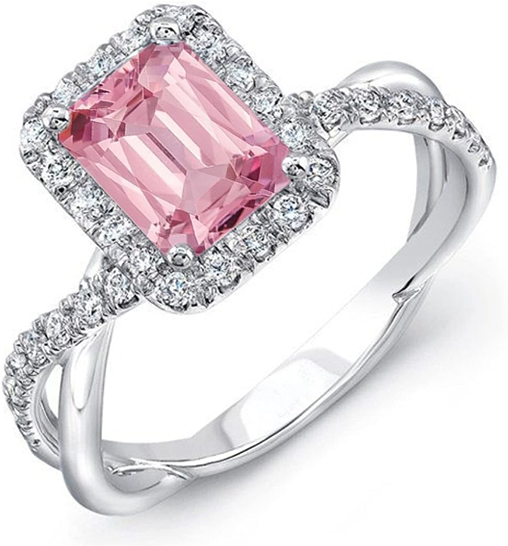 Vorra Fashion Zehenring für Damen, Verlobungsring, Cubic Zirkonia, Smaragdschliff, Sterlingsilver 925
