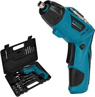 Maxjaa Electric Screwdriver Set 45-in-1 Rechargeable Electric Cordless Screwdriver Kit 90°Rotatable 250RPM 4.5N.m 600mAh ...