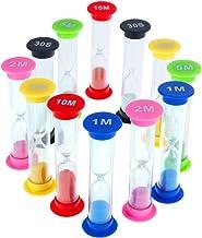 Ballylelly Mini sablier 30 Secondes 1 2 3 5 10 Minutes Cadeau de minuterie pour Enfants Jouets 6pcs d/écoration de Bureau sablier