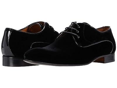 Massimo Matteo Velvet Cap Toe Oxford (Black Velvet) Men