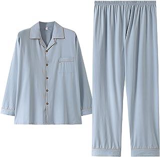 Pijama De Algodón De Talla Grande De Talla Grande para Hombre Pantalones De Manga Larga De Primavera Y Otoño Ropa Holgada Grande para El Hogar 140 Kg,Sky Blue,6XL