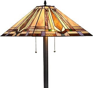 Tiffany Style 2-Light Mission Floor Lamp Tall 65
