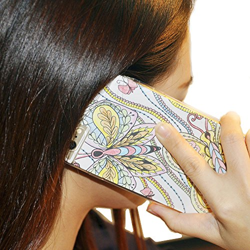 Coloring Pages for Phone Case of iPhone 6 plus/6s plus with 3 Double Ended Color Pencils Lolifun LPC006