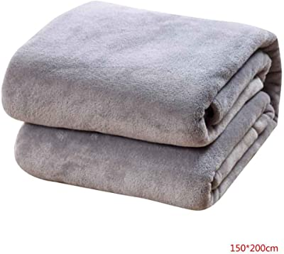 b5389bcabb OmkuwlQ Solid Sofa Bedding Throw Flannel Blanket Plush Bed Quilt Winter  Warm Summer Air Conditioning Bedsheet