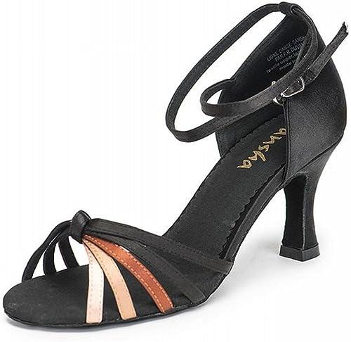 BYLE Sangle de Cheville Sandales en Cuir Chaussures de Danse Danse Modern'Jazz Samba Latine Adultes Chaussures de Danse, Chaussures de Danse de Bal