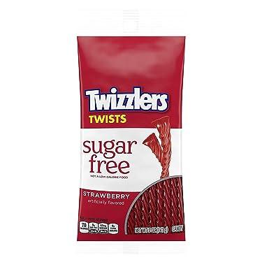 Twizzlers - Caja de 12 espirales de fresa sin azúcar