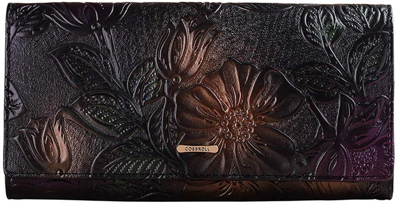Chengzuoqing Weiche Lange Geldbörse für Damen Damen Damen Echtes Leder Classic Lady Lange Clutch Geldbörse Doka-Brieftasche aus Leder (Farbe   schwarz) B07QF51ZNH e4a9c5