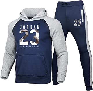 Unisex Tracksuits Set Basketball Sweatshirts Hoodies Trousers 23# Jordan Sportswear Basketball Jerseys Casual Gym Sports R...