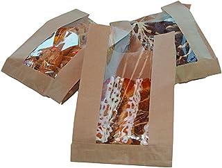 Natural Kraft Single Serve Greaseproof Window bag 6x2x9. 1000 bags per case McN # 321197